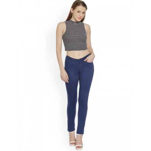 Kraus Jeans Blue Skinny Fit Chino Trousers