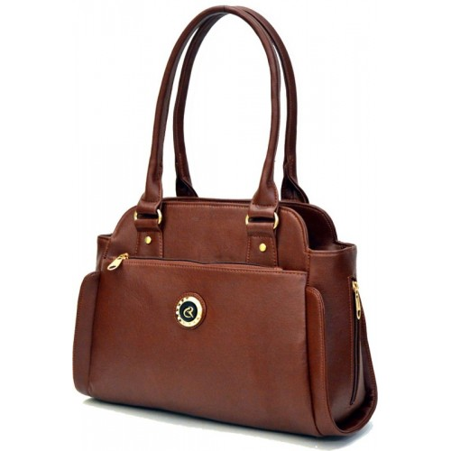 AGINOS Hand-held Bag(Brown)