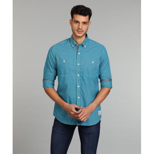 Nautica Men's Checkered Casual Button Down Shirt