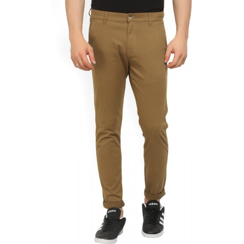 Highlander Slim Fit Men's Brown Trousers