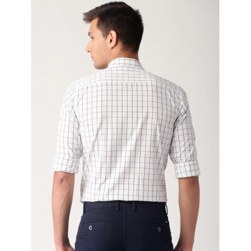 Buy ETHER White & Black Checked Casual Shirt online | Looksgud.in