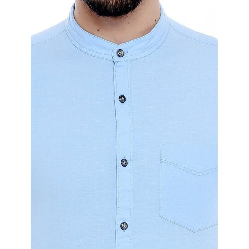7927e722a6fc Buy Roller Fashions Men's Solid Casual Light Blue Shirt online ...