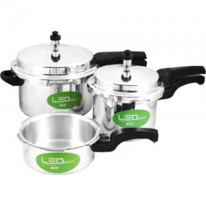 Leo Natura Eco + 2 L, 3 L, 5 L Pressure Cooker with Induction Bottom(Aluminium)