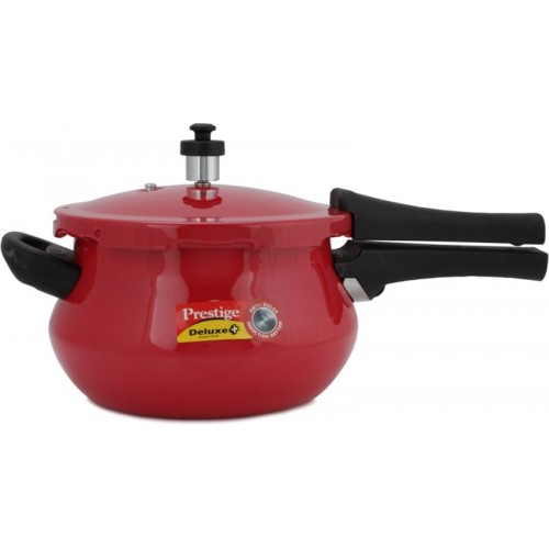 Prestige Deluxe Plus Mini Handi Red 3.3 L Pressure Cooker with Induction Bottom(Aluminium)
