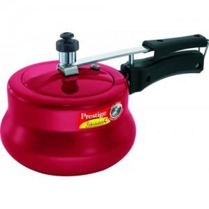 Prestige Red Aluminium Nakshatra Plus Handi 3 L Pressure Cooker with Induction Bottom