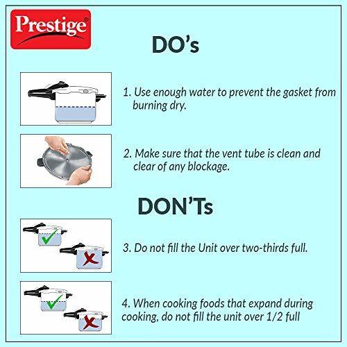 Prestige Popular Aluminium 3 Litres Pressure Cooker