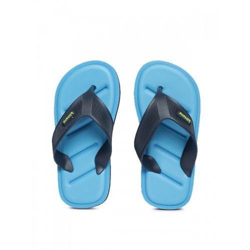 Kittens Boys Navy Blue Solid Thong Flip-Flops
