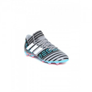 1a4171b44f1e Adidas Boys Grey   Black NEMEZIZ Messi 17.3 FG Striped Football Shoes