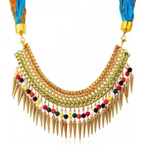 Sukkhi Stunning Scarf with chain Gold-plated Plated Alloy Necklace