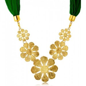 Sukkhi Long Mala Necklace for Women (Green) (58007SNGLDPD1350)
