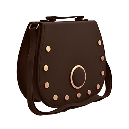 JFL Stylish PU Synthetic Sling Bag with Adjustable Strap for Ladies and Girls