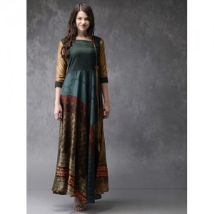 Anouk Multicoloured Printed Maxi Kurta