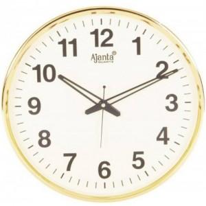 Ajanta Analog Wall Clock(Beige, With Glass)