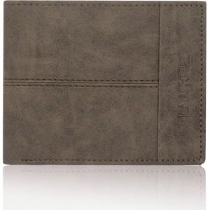 Laurels Men Brown Genuine Leather Wallet(5 Card Slots)