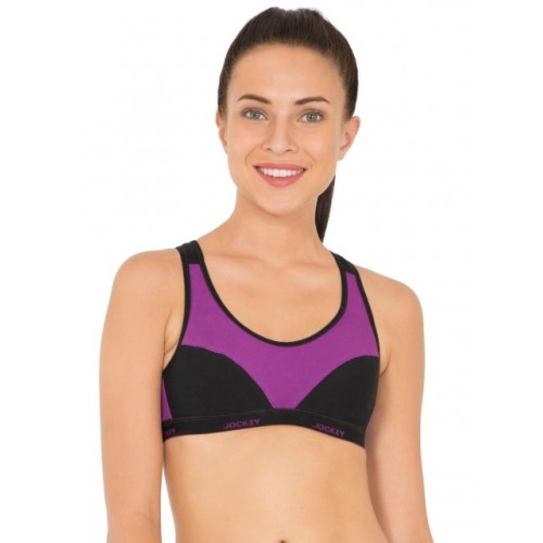 3d2d0910ae43f ... Active Bra  Jockey Purple Glory   Black Racer Back Padded Active ...