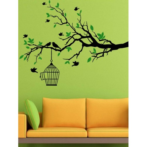 Trends on Wall Large Nature Sticker(Pack of 1)