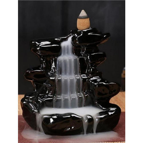 eCraftIndia Black Dropping Handcrafted Smoke Backflow Fountain Showpiece