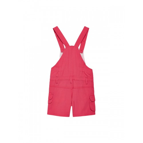 FirstClap Unisex Pink Cotton Solid Dungaree