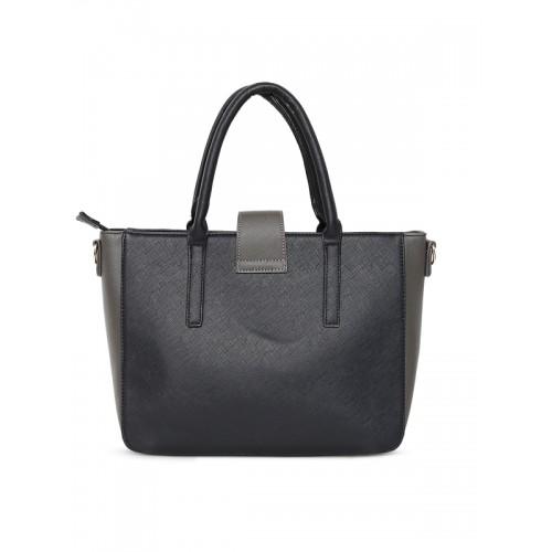 Lisa Haydon for Lino Perros Black Solid Handheld Bag with Sling Strap