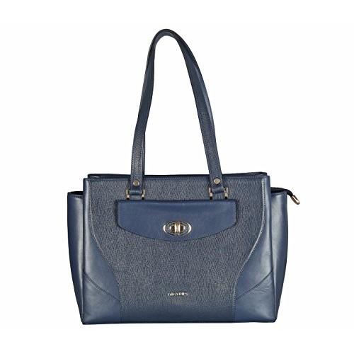 Adamis Blue Leather Women Handbag B820