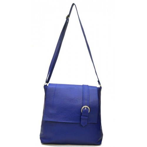 AGINOS Women Casual Blue Leatherette, Polyester Sling Bag