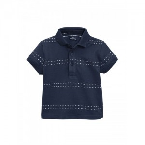next Boys Navy Blue & White Striped T-shirt
