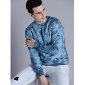 Kook N Keech Men Blue Printed Sweatshirt