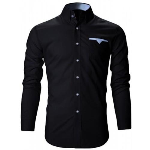 FINIVO FASHION Men Solid Casual Spread Shirt