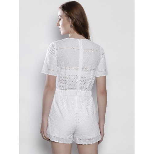 4854120c9aa Buy DOROTHY PERKINS White Schiffli Embroidered Playsuit online ...