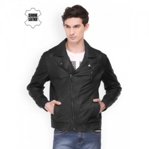 Teakwood Leathers Men Black Jacket