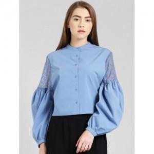 Zink London Blue Regular Fit Top