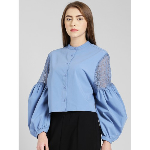 Zink London Blue Regular Fit Top