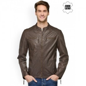 Teakwood Leathers Brown Leather Jacket