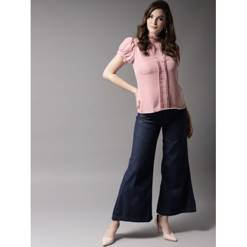 HERE&NOW Women Dusty Pink Solid Top