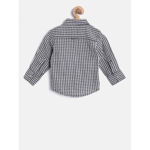 Gini and Jony Black & White Checked Reversible Casual Shirt