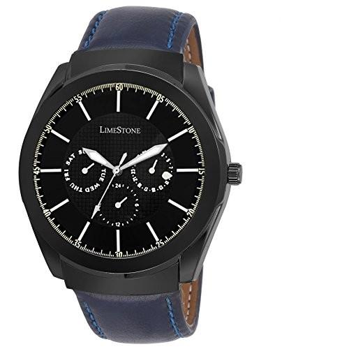 Limestone Analog Blue Strap Men's Wrist Watch - LS2638