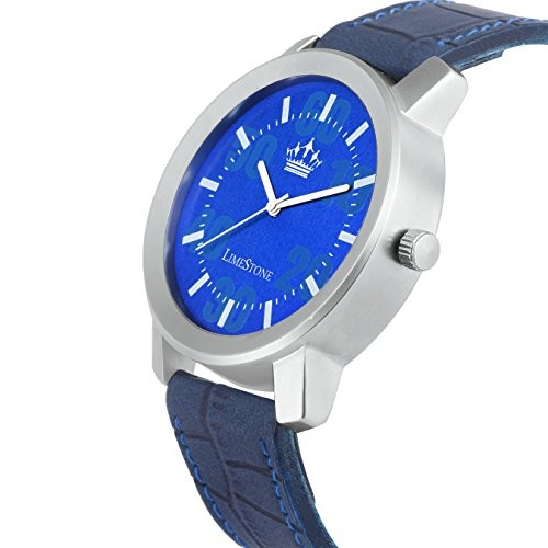 Limestone Blue Dial Analog Watch for Men's- (LS2712)