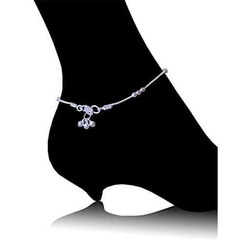 female beads genuine pure sterling silver transit anklet double solid simple item anklets