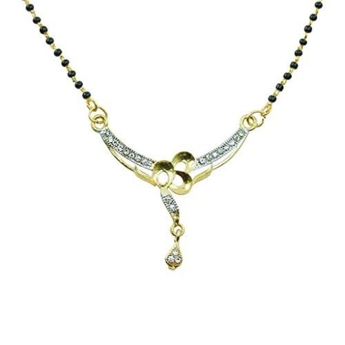 Aakshi  CZ Diamond Dual Tone Mangalsutra For Women