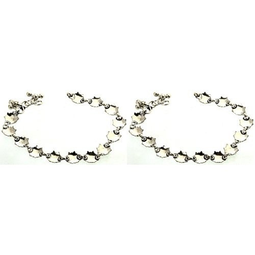 Exotic India Sterling Silver  Anklets