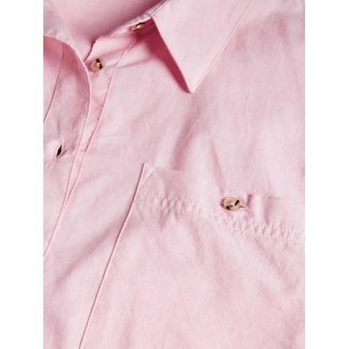 next Women Pink Solid Classic Regular Fit Casual Shirt