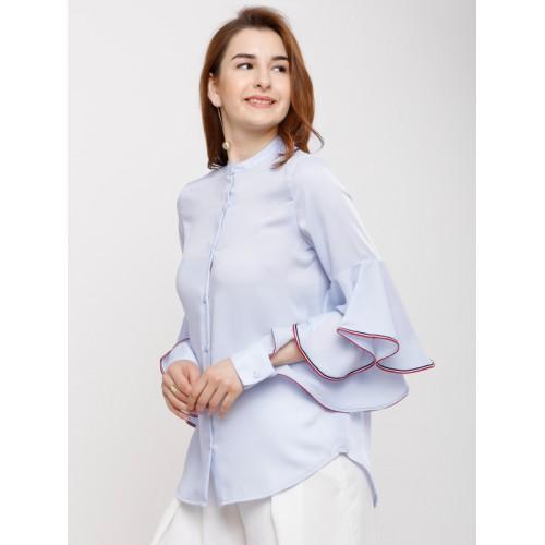Tokyo Talkies Women Blue Regular Fit Solid Casual Shirt