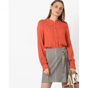 Vero Moda Pintucked Shirt with Ruffled Collar