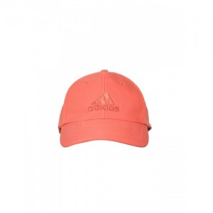 7e9f56b80f70b Adidas Unisex Coral Pink 6P LTWGT EMB Solid Cap with Embroidered Detail