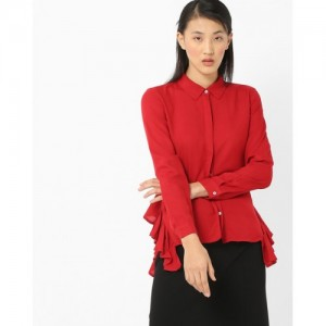 Vero Moda Button-Down Shirt with Back Tie-Up