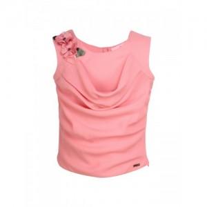 CUTECUMBER Girls Pink Polyester Embellished Top