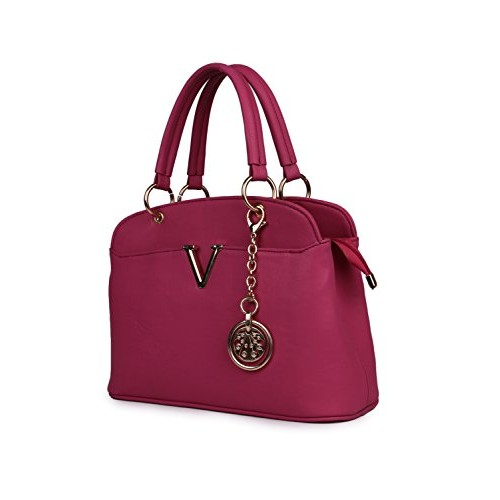 Women Marks Pink Pu Hand Held Bag