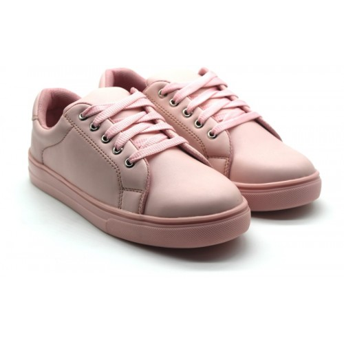 Jynx  Pink Synthetic Lace Up Sneakers