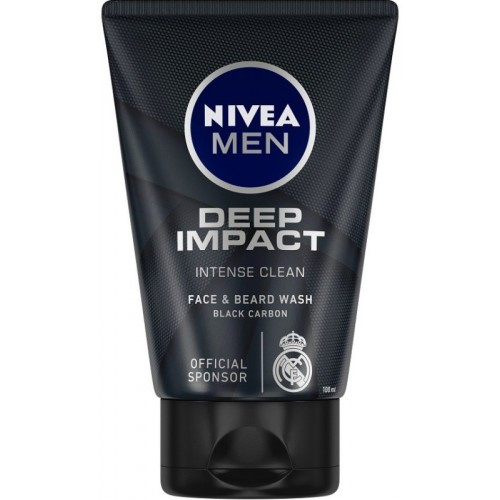 Nivea Men Deep Impact Intense Clean Face Wash (100 ml)