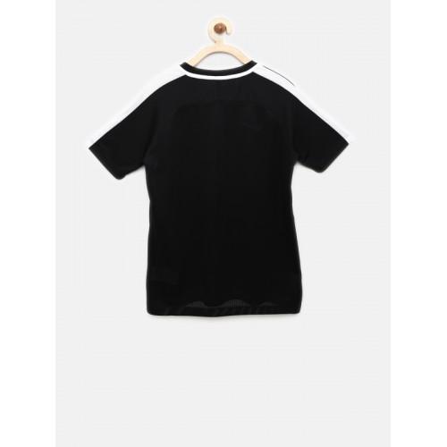 Nike Unisex Black Solid T-shirt